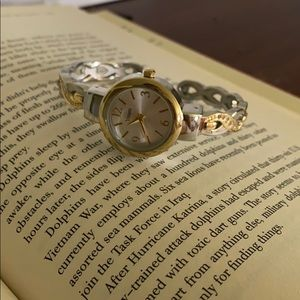 Vivani silver and gold with diamonds watch